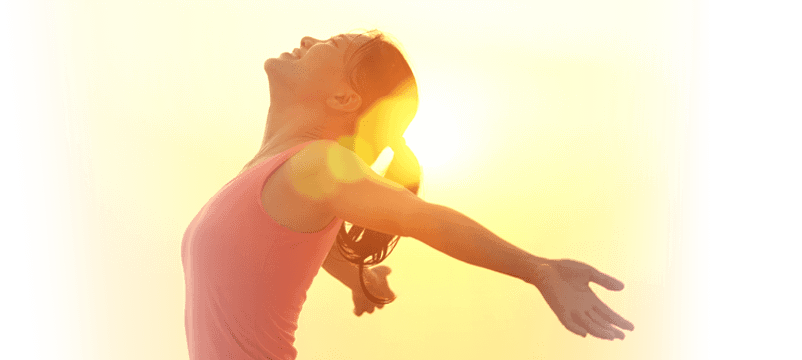 Slide Image - Woman with arms wide open
